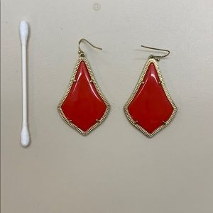 Red orange Kendra Scott drop earrings